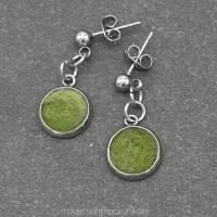 Ohrringe, Filz in Grün Bild 4