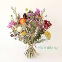 BIO Trockenblumenstrauß *Locker gebunden* NACHHALTIG UMWELTSCHONEND ca. 37cm hoch (Demeter, Rosen von Bioland) Bild 2