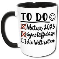 Abi 2021 Tasse, Abi Geschenk, Abitur Geschenke, lustige Abi Sprüche Kaffeetasse, Glückwünsche bestandene Abi Prüfung Bild 1