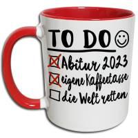 Abi 2021 Tasse, Abi Geschenk, Abitur Geschenke, lustige Abi Sprüche Kaffeetasse, Glückwünsche bestandene Abi Prüfung Bild 2