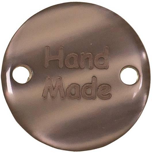 Handmade Tags in grau Zierteil aus Kunststoff Bild 1