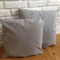 Schöne gestreifte Kissen aus beschichteter Baumwolle für die Terrasse oder Wintergarten Bild 1