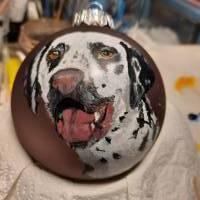 Handgemalte Tierportaits auf Kugeln aus Glas  Bild 1