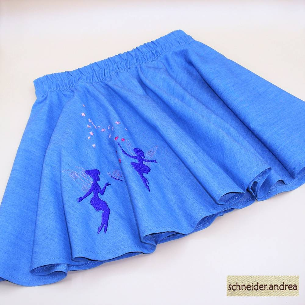 Jeans - Tellerrock für Kinder FEEN Bild 1