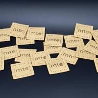 Kunstlederlabel mit deinem Logo / Schriftzug bis 50x50mm Bild 3