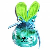 Bunny Bag Gr. S, Blaugrün 2 mit Wunschname - Beutel für Ostergeschenke - Geschenkverpackung - Geschenkbeutel - Ostern Bild 1