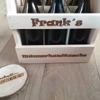 Bierträger, Männerhandtasche, Geschenk, Biertrinker, Flaschenträger Bild 2