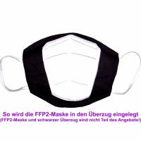 """Überzug für FFP2 Maske """"Punkte Lila"""" - einlagig - 100% Baumwolle - Waschbar - Stoffhülle - Stoffüberzug Bild 3"""