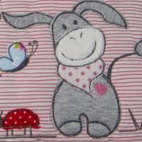 Personalisiertes Kinderkissen Eselchen, Kuschelkissen für Babys und Kinder, Kissen mit Applikation und Name Bild 2