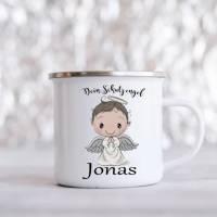 Personalisierte Tasse mit Namen Jungen Mädchen Schutzengel  Bild 1
