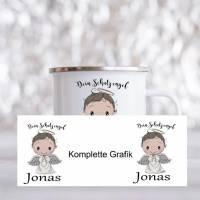 Personalisierte Tasse mit Namen Jungen Mädchen Schutzengel  Bild 2