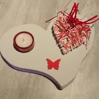 Teelichthalter Herz Bild 2
