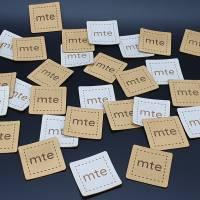 Kunstlederlabel mit deinem Logo / Schriftzug bis 100x100mm Bild 2