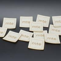 Kunstlederlabel mit deinem Logo / Schriftzug bis 100x100mm Bild 5