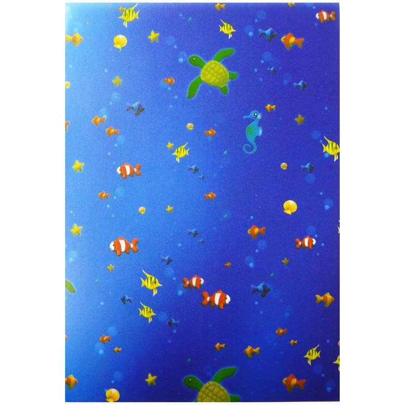 Transparentpapier Rolle 50,5x70 cm Unterwasserwelt Bild 1