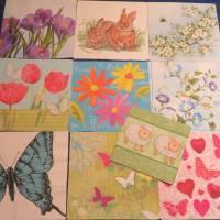 10 Servietten / Motivservietten / Hasen / Bienen / Zweige / Knospen /  Frühling / Blumen / Tiere Mix 33 Bild 1