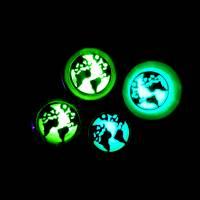 Holu-Plug, Welt, nachtleuchtend, Harz und Edelstahl, Farbauswahl, handmade Bild 5
