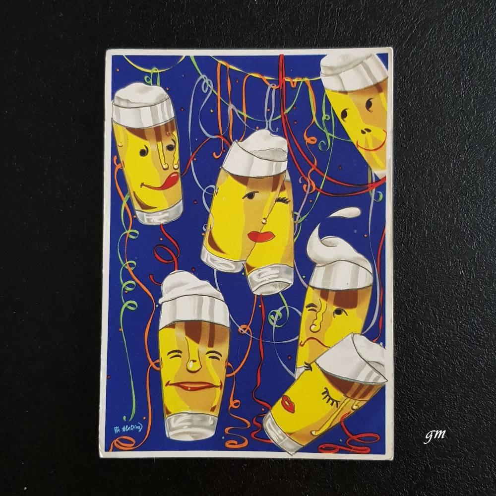 """vintage, Postkarte,  Werbung deutscher Brauerbund e.V. Bonn, """"Bier schmeckt immer"""" Bild 1"""