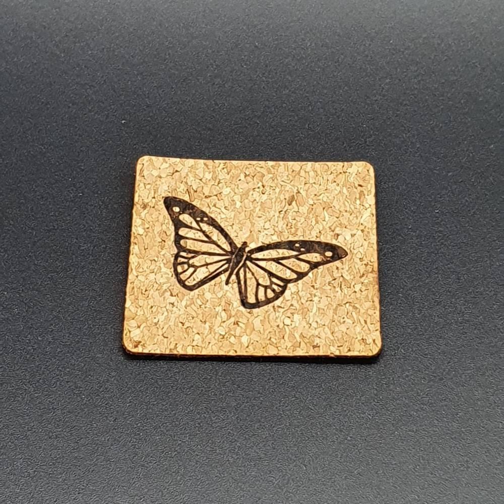 Korklabel Schmetterling Bild 1