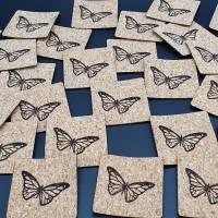 Korklabel Schmetterling Bild 2