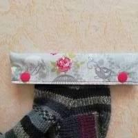 Nadelgarage, Nadelsafe, Nadelspiel Garage, Nadelspiel Safe, Nadeltasche für 15 cm lange Sockennadeln,  Bild 1