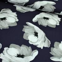Viskose Jersey Wild Rosen auf dunkelblau Bild 1