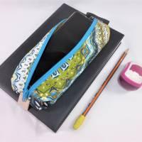 Mäppchen, Stifthalterung, Lesezeichen mit Brillenaufbewahrung mit Gummiband zur Befestigung an Notizbuch, Kalender Bild 5