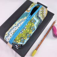 Mäppchen, Stifthalterung, Lesezeichen mit Brillenaufbewahrung mit Gummiband zur Befestigung an Notizbuch, Kalender Bild 6