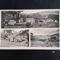 vintage, Postkarte, Ansichtskarte, Wintersbach im Spessart, ca. 40er Jahre sw Bild 1