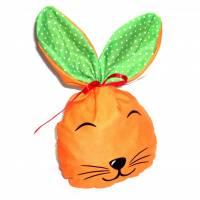 Bunny Bag Gr. L, Orange mit Wunschname - Beutel für Ostergeschenke - Geschenkverpackung - Geschenkbeutel - Ostern Bild 1