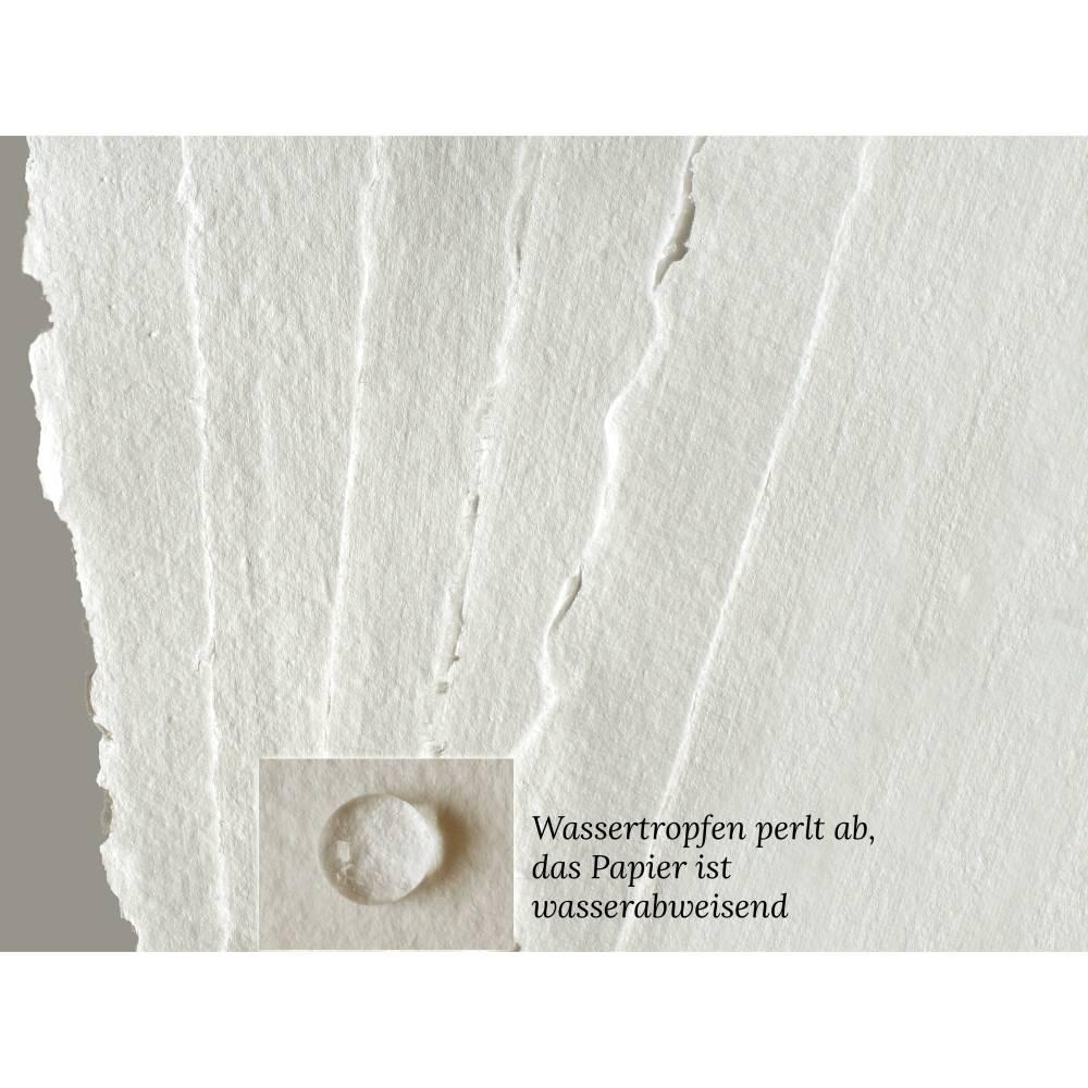 6 Bogen weißes, handgeschöpftes Papier, ca. 30 cm x 30 cm, quadratisches Büttenpapier, Malpapier, Künstlerpapier Bild 1