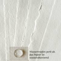 12 Bogen handgeschöpftes Papier, quadratisch, ca. 30 cm x 30 cm, weißes Büttenpapier, Malpapier, Künstlerpapier Bild 1
