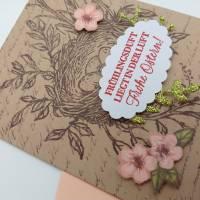 Osterkarte mit Vogelnest, Grusskarte zu Ostern Bild 3