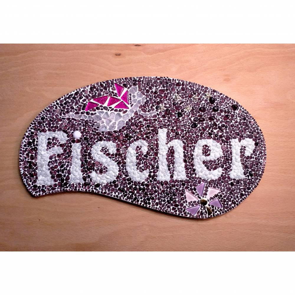 Ihr Namensschild mit Elfe **Glasmosaik für den Hauseingang** Bild 1