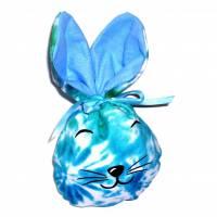 Bunny Bag Gr. S, Blaugrün mit Wunschname - Beutel für Ostergeschenke - Geschenkverpackung - Geschenkbeutel - Ostern Bild 1
