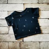 Baby T-Shirt Gr. 56  blau mit Palmen    + UNIKAT + Bild 2