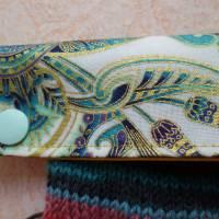 Nadelgarage, Nadelsafe, Nadelspiel Garage, Nadelspiel Safe, Nadeltasche für 15 cm lange Sockennadeln, mit Goldglanz Bild 5