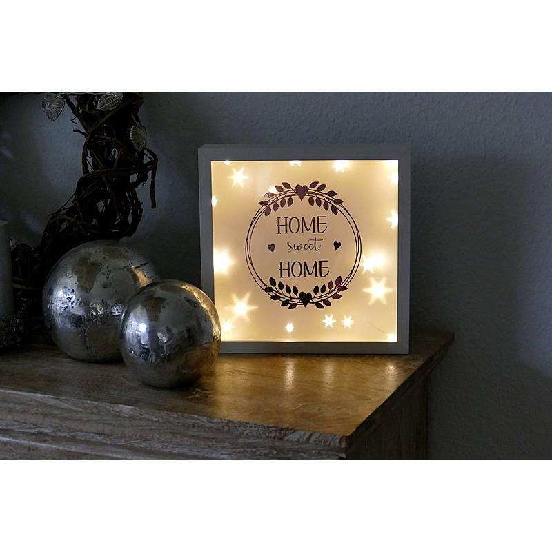 Leuchtrahmen Home sweet Hoime Bilderrahmen beleuchtet Bild 1