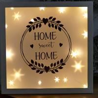 Leuchtrahmen Home sweet Hoime Bilderrahmen beleuchtet Bild 2