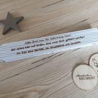Meterstab/Zollstock mit persönlicher wunsch Gravur individuell personalisierbar Laser Engraving Bild 1