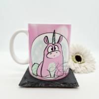 Tasse Einhorn Marshmallow - Kaffeetasse aus Keramik Bild 1