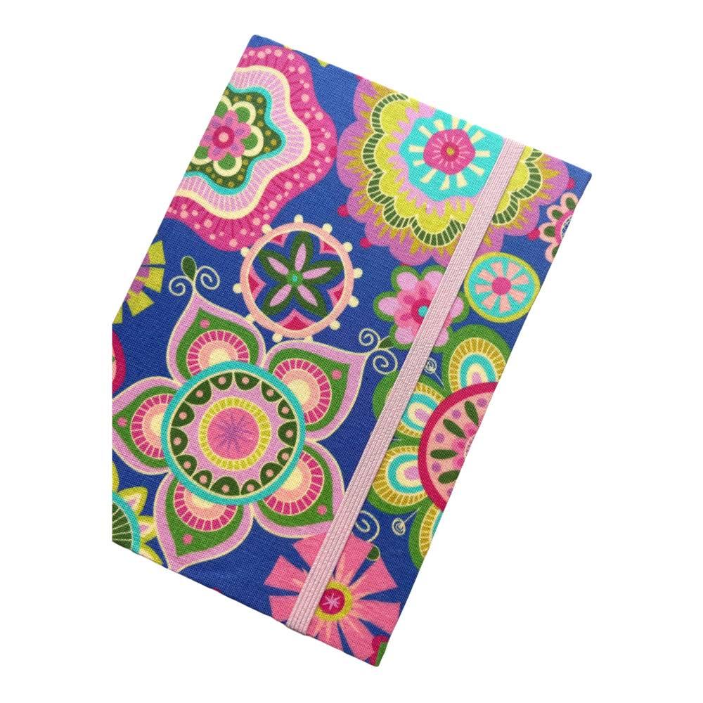"""Notizbuch Hardcover """"Summer"""" etwas kleiner als A5 Sonderformat stoffbezogen Hippie Boho Muster Geschenk Bild 1"""