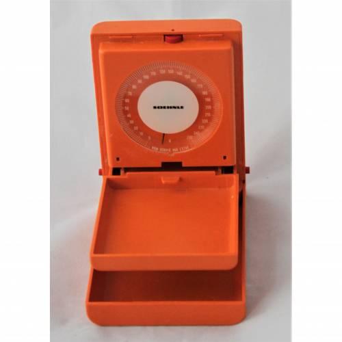 kleine Vintage Waage Soehnle orange