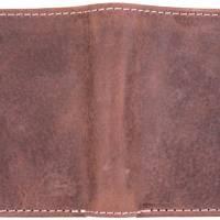 Gravierte Geldbörse Natur Leder Vintage Hellbraun oder Dunkelbraun - Geldbeutel / Portemonnaie / Brieftasche individuell Bild 3