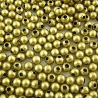 120 Stück / Quetschperlen / 4 mm / bronzefarben / C1-0399 Bild 1
