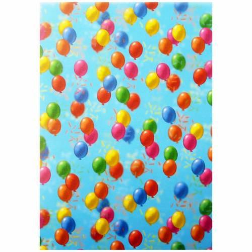Transparentpapier Rolle 50,5x70 cm Luftballons