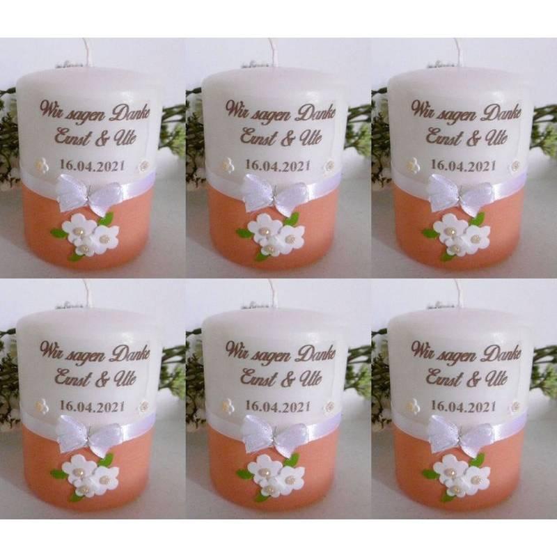 Personalisierte Gastgeschenke-Kerzen * HOCHZEIT * VERLOBUNG * JUBILÄUM * KOMMUNION * GESCHENK * Bild 1