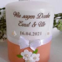 Personalisierte Gastgeschenke-Kerzen * HOCHZEIT * VERLOBUNG * JUBILÄUM * KOMMUNION * GESCHENK * Bild 3