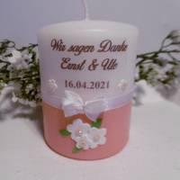Personalisierte Gastgeschenke-Kerzen * HOCHZEIT * VERLOBUNG * JUBILÄUM * KOMMUNION * GESCHENK * Bild 4