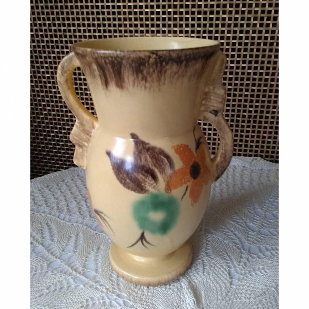 Vintage Keramik-Vase - Elsterwerda Handarbeit Bild 1